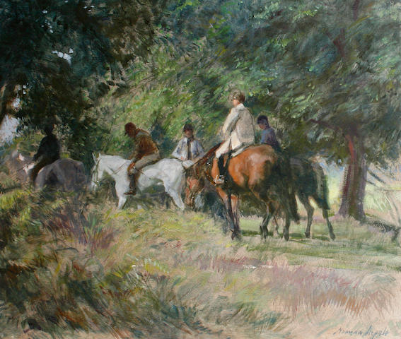 Norman Hepple (British, 1908-1994) Horse riders