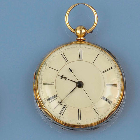 William Ratcliffe, Liverpool: An 18ct gold open faced pocket watch