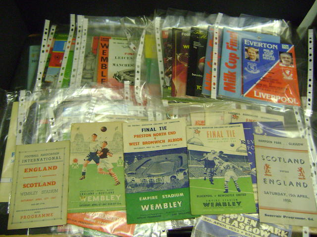 A collection of F.A. cup programmes, Wembley Finals and Internationals