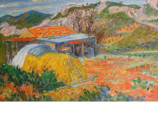 Frederick Gore (British, 1913-2009) Les Baux de Provence 51 x 76.2 cm. (20 x 30 in.)