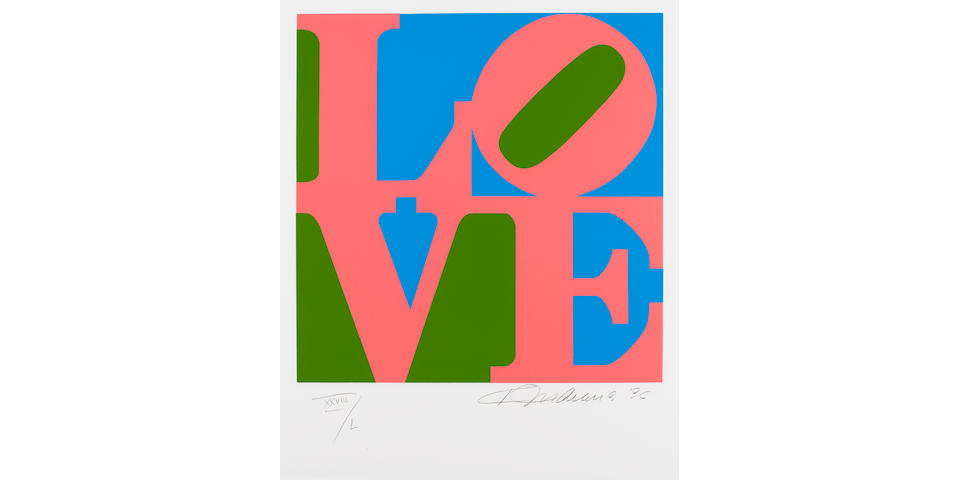 Robert Indiana (American, born 1928) 'The Book of Love', 1996