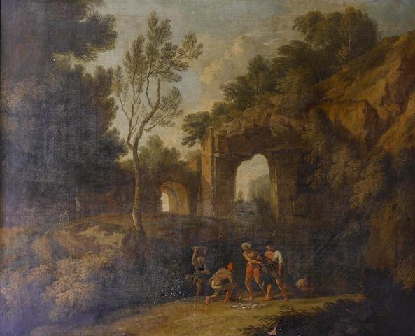 Circle of Andrea Locatelli (Rome 1693-circa 1741) An Italianate river landscape
