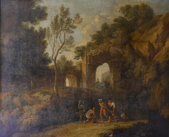 Circle of Andrea Locatelli (Rome 1693-circa 1741) An Italianate river landscape