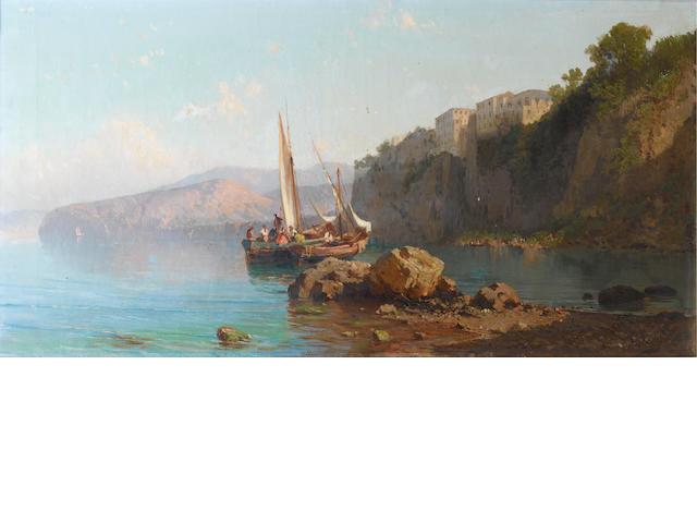 Alessandro La Volpe (Italian, 1820-1887) Passagio di Rosseto, Sorrento