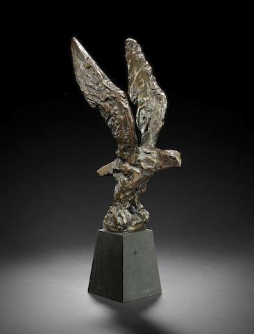 Dame Elisabeth Frink R.A. (British, 1930-1993) Maquette for Eagle 29 cm. (11 1/2 in.) high (excluding base)