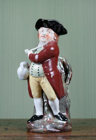 A 'Hearty Good Fellow' Toby jug, circa 1840