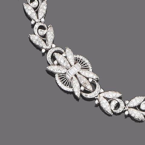 A diamond bracelet/necklace