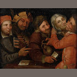 Follower of Pieter Balten (Antwerp circa 1526-circa 1584) Card players