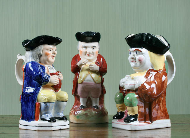 Three Staffordshire Toby jugs