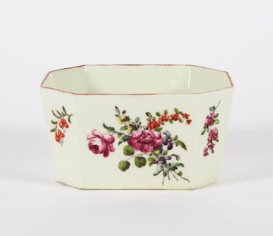 A rare Derby butter tub Circa 1760-65.