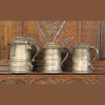An early 19th Century spouted pint tankard
