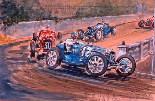 Rob Roy (1909 – 1992) 'Grand Prix de Monaco 1932' 1985,