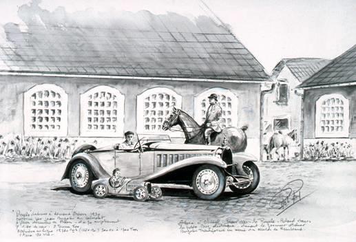 Rob Roy (1909 – 1992) 'La Famille Bugatti' 1978,