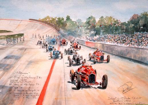 Rob Roy, (1909 – 1992) 'Grand Prix de L'ACF 1934', 1985,
