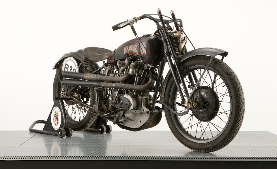 1926 Harley-Davidson 74ci Model J OHV Racing Motorcycle Engine no. 26J13794