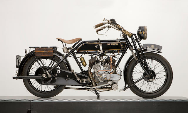 1924 Sunbeam V Twin JAP engine 750cc