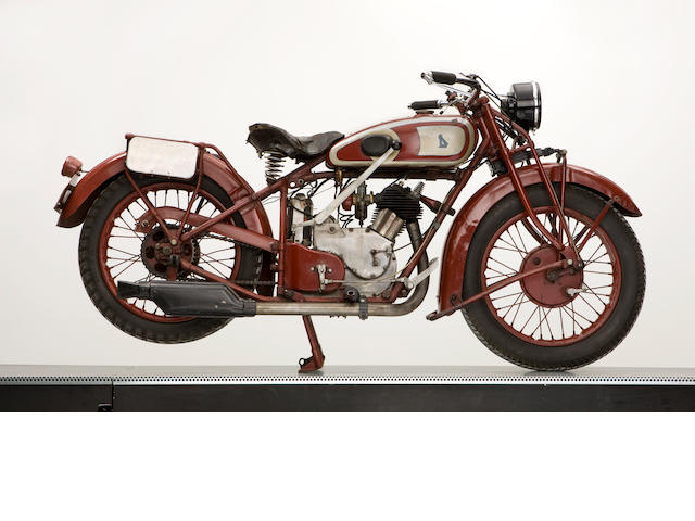 c.1936 NSU Type R9 493cc Unrestored/red inclined single