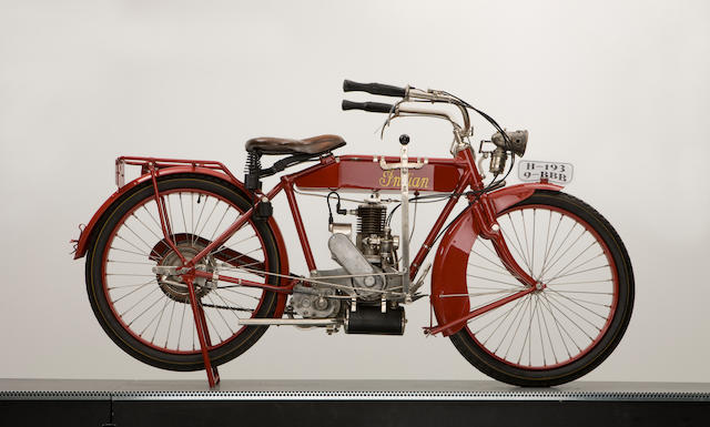 1916 Indian 221cc Model K Featherweight Engine no. 23H180