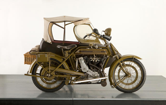 c.1915 Motosacoche 996cc Motorcycle Combination Frame no. 3023 Engine no. 2C9A 60995