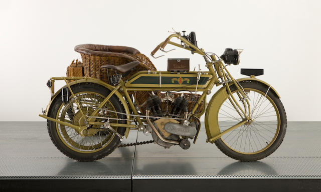1913 Matchless Model 7B Motorcycle Combination Frame no. A813 Engine no. 16365