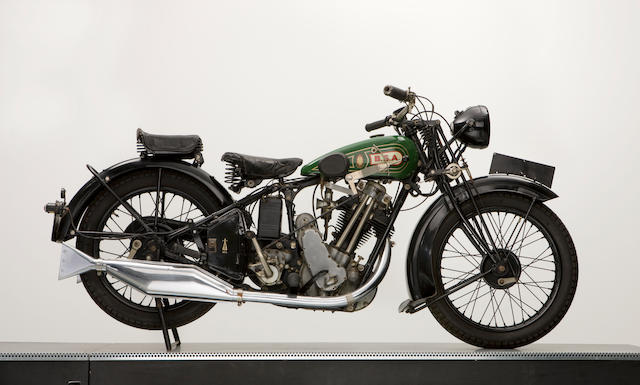 1930 BSA 493cc Model S30-12 Sloper & Sidecar Engine no. XW638
