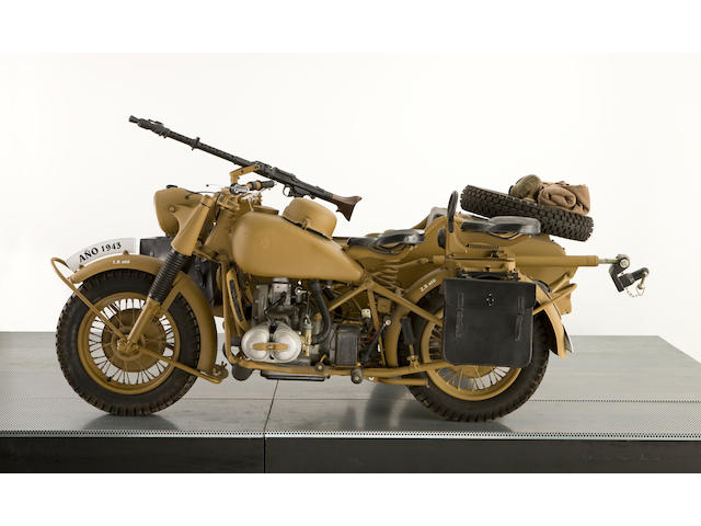 1943 BMW 750cc R75 Military Motorcycle Combination & Trailer Frame no. 762682 Engine no. 763797