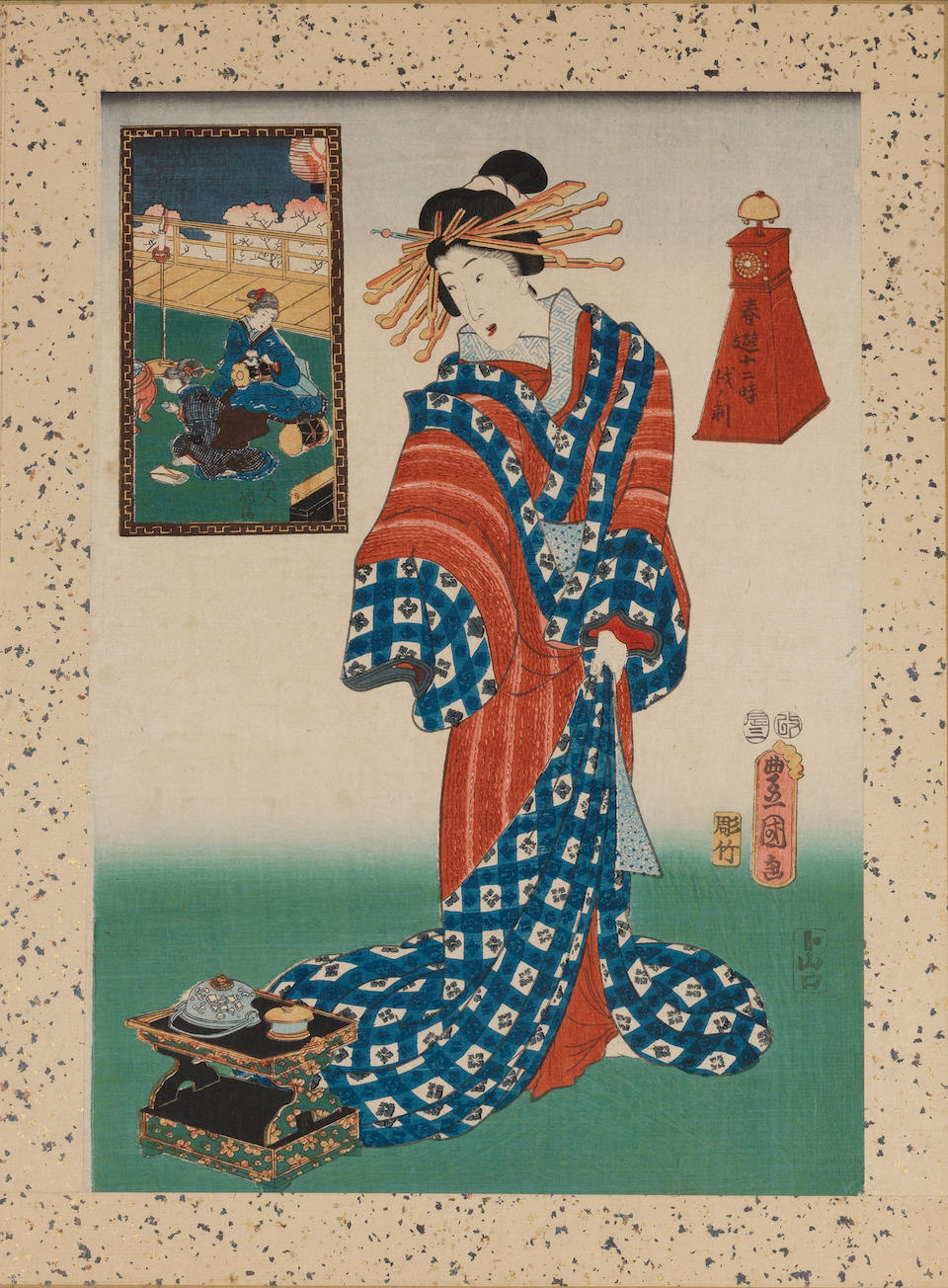 Utagawa Toyokuni III (1786-1864) Dated 1856