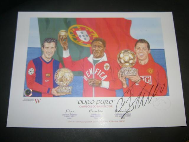 'OURO PURO' European footballers of the year colour print