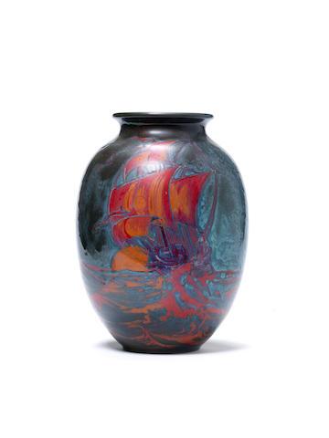 Doulton flambe vase