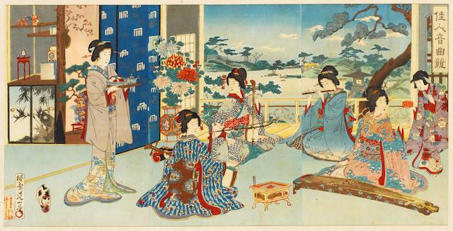 Yosai Nobukazu (1872-1944) and Yoshu Chikanobu (1838-1912) Meiji Period