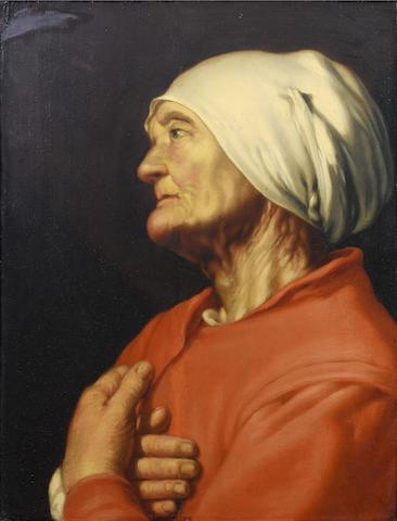Studio of Hendrick Bloemaert (Utrecht circa 1601-1672) An elderly lady, half-length,