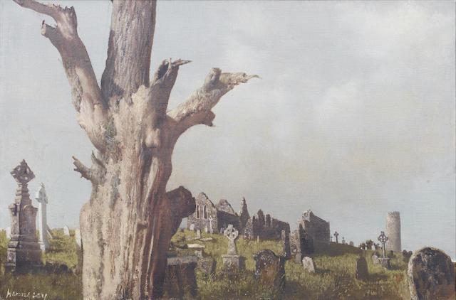 Patrick Hennessy (Irish, 1915-1980) Clonmacnoise 35.5 x 53.5 cm. (14 x 21 in.)