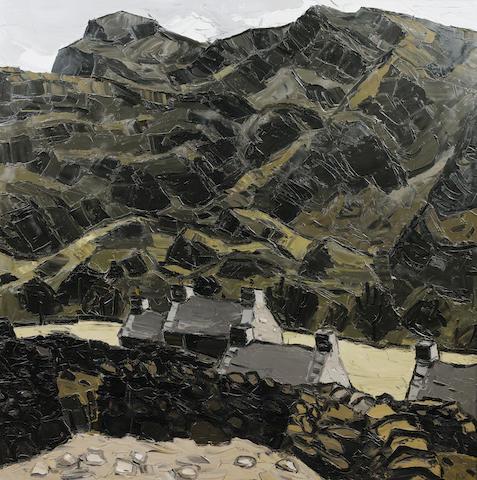 Sir Kyffin Williams, R.A. (British, 1918-2006) Farm, Nant Ffrancon 122 x 121 cm. (48 x 48 in.)