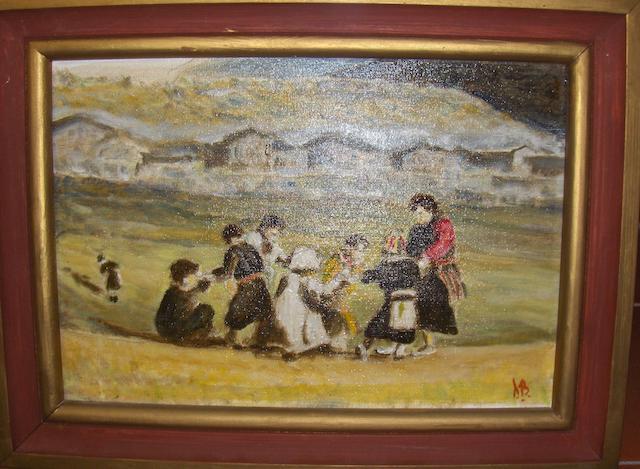 Derek Bingham Children at the Pier,
