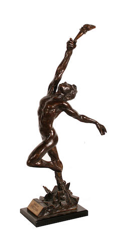 Enzo Plazzotta (Italian, 1921-1981) 'Spirit of Freedom, 1981' 33.5cm (13 1/4in)(height, including base)