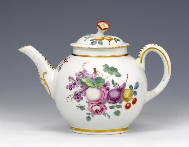 A rare Worcester teapot and cover circa 1768-70