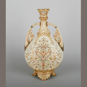 A Royal Worcester blush ivory vase
