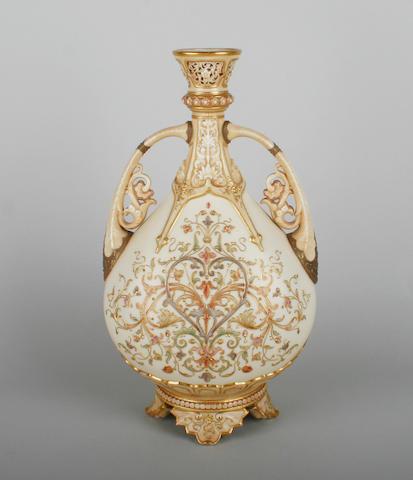 A Royal Worcester blush ivory vase