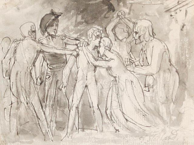 Thomas Stothard (British, 1755-1834) A family's lament