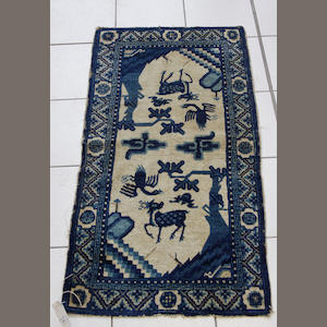 A silk Hereke prayer mat West Anatolia, 53cm x 43cm (6)