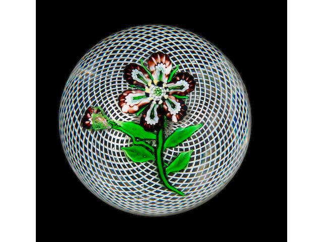 A rare Clichy flower paperweight circa 1850