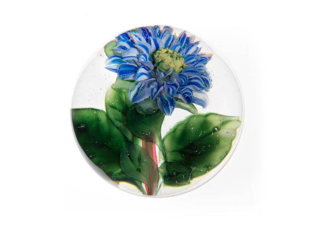 A rare French flower paperweight second half 19th century