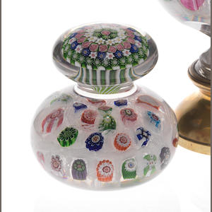 A fine and rare Clichy double-paperweight circa 1850