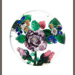 A rare Mount Washington and Co. magnum flower paperweight circa 1870-90
