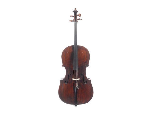 An Italian Cello ascribed to G.B. Rugieri, Cremona, circa 1700 (3)