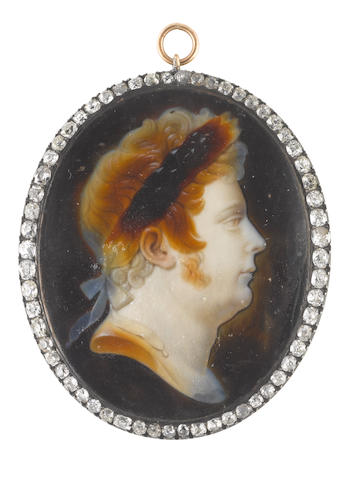 Louis-Bertin Parant (French, 1768-1851) George IV (1762-1830), King of Great Britain (1820-1830), profile to the right, in Classical Guise
