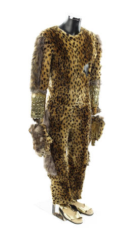 Survival, November 1989 A Cheetah Person costume, comprising;