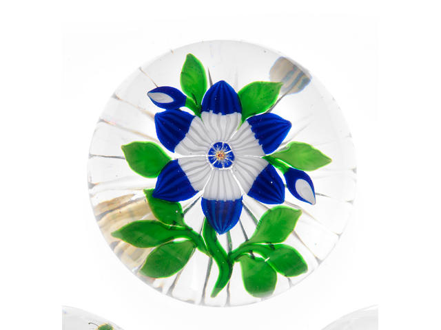 A very rare Baccarat stylised flower paperweight circa 1850