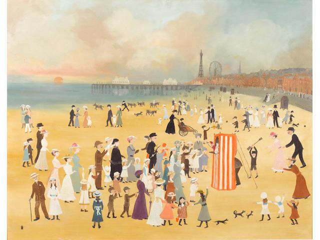 Helen Bradley (British, 1900-1979) Blackpool Beach 76 x 96.5 cm. (30 x 38 in.)