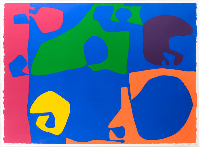 Patrick Heron (British, 1920-1999) Abstract Composition Screenprint, 1973, printed in colours, on thick wove, signed, dated and inscribed 'artist's proof' pencil, aside from the edition of 72, printed by Kelpra Studio, 585 x 815mm (23 x 32 1/5in)(SH)